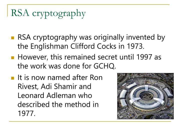 RSA cryptography