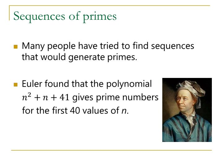 Sequences of primes