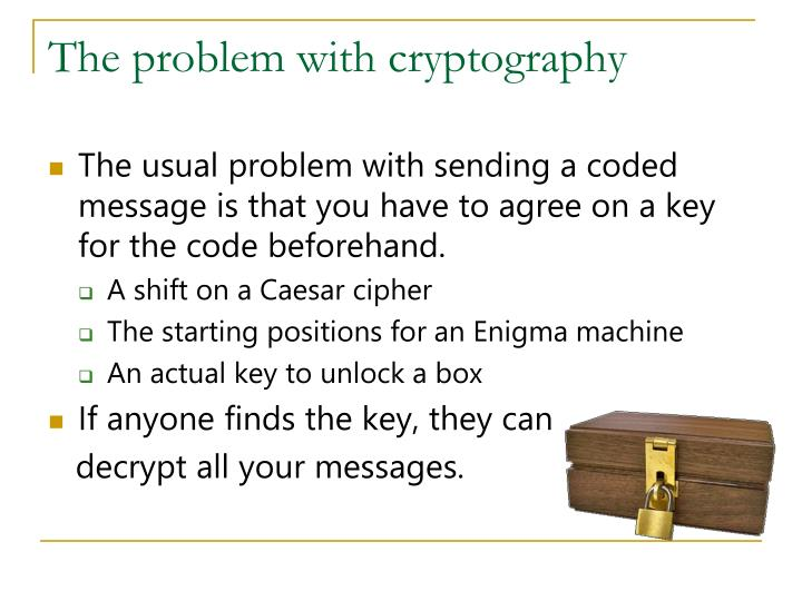 The problem with cryptography