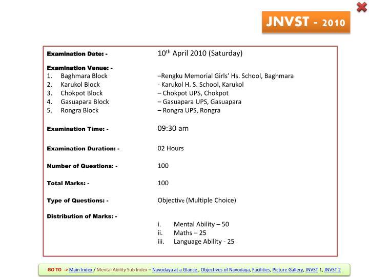 JNVST - 2010