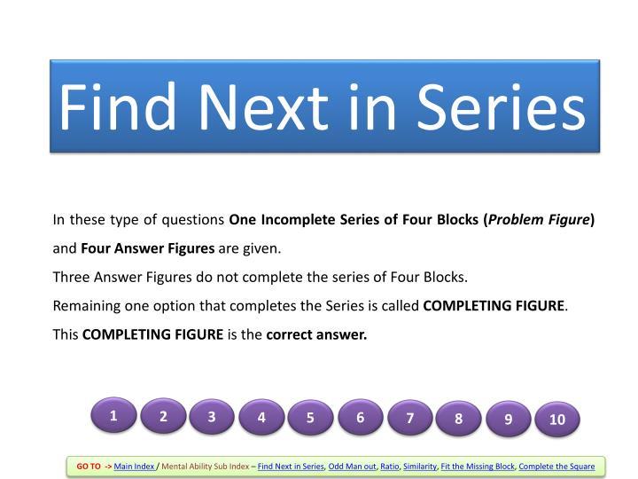 Find Next in Series