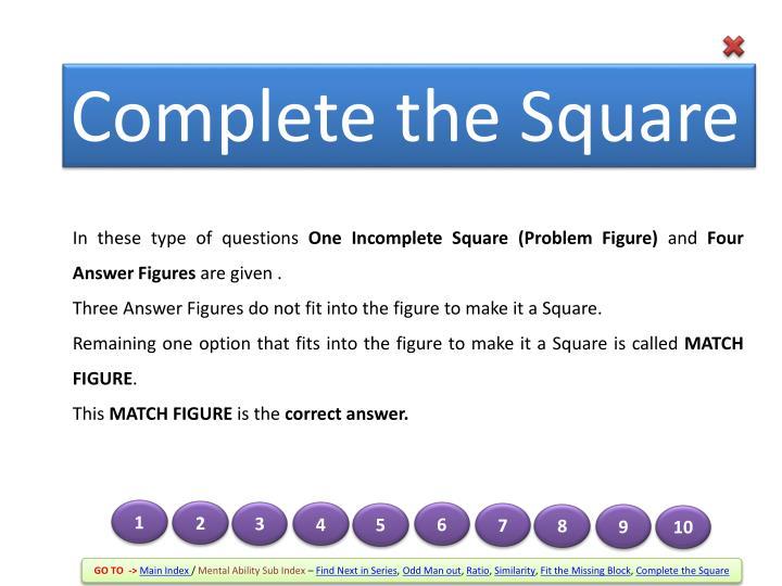 Complete the Square