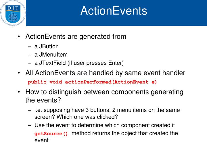 ActionEvents