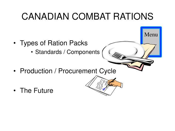 Canadian combat rations