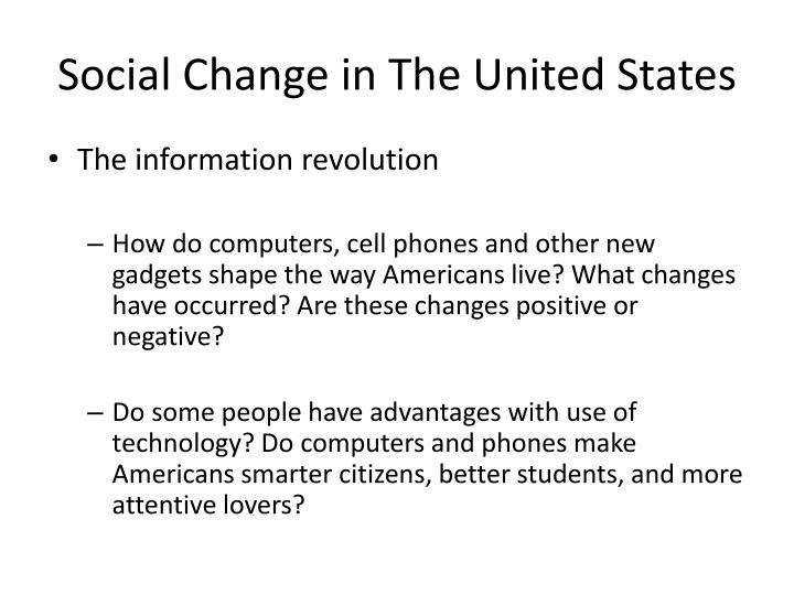 Social Change in The United States