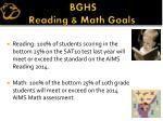 bghs reading math goals