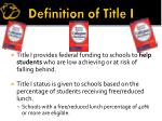 definition of title i