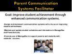 parent communication systems facilitator