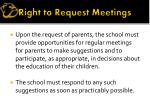 right to request meetings
