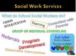 social work services