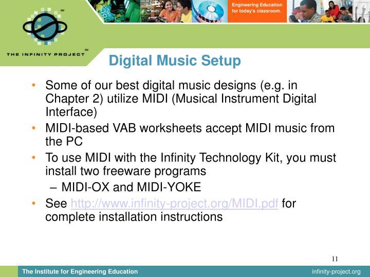 Digital Music Setup