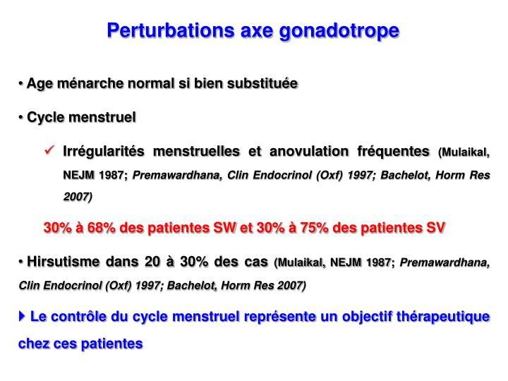 Perturbations axe gonadotrope