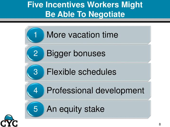 Five incentives workers might be able to negotiate