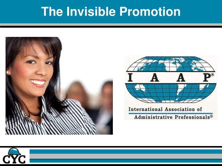 The Invisible Promotion