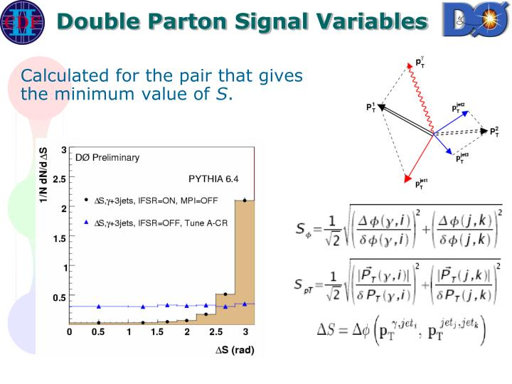 Double Parton Signal Variables