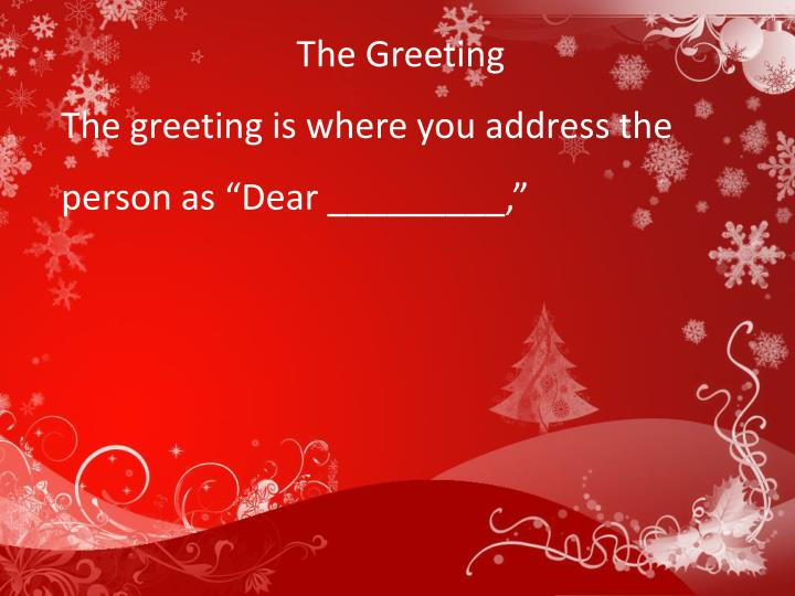 The Greeting