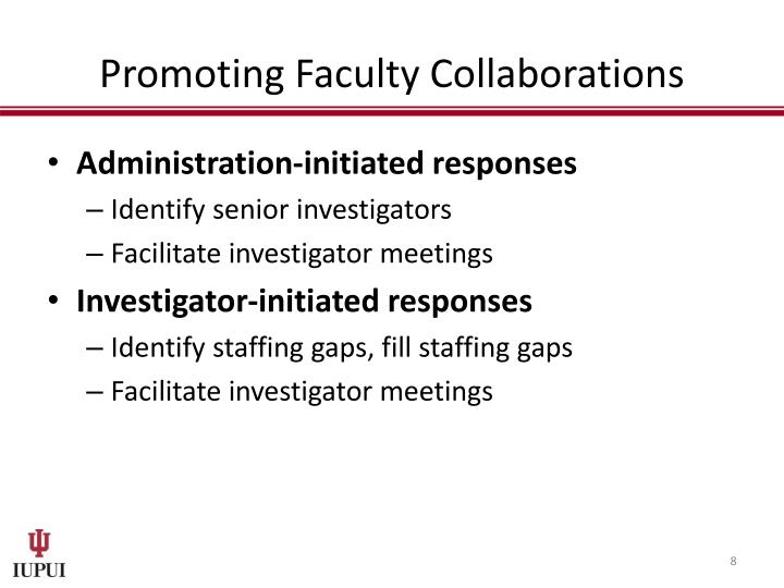 Promoting Faculty Collaborations