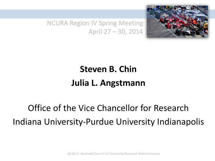 @ 2014  National Council of University Research Administrators