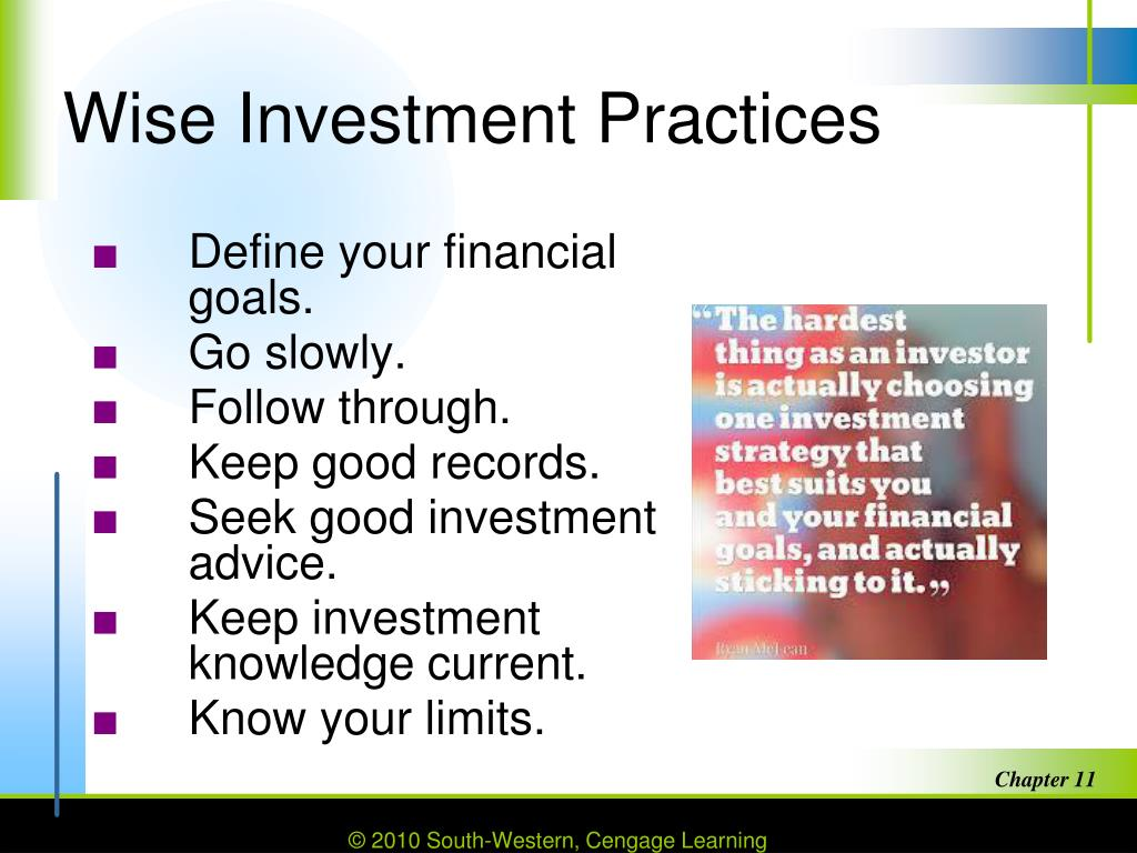 wise investment practices