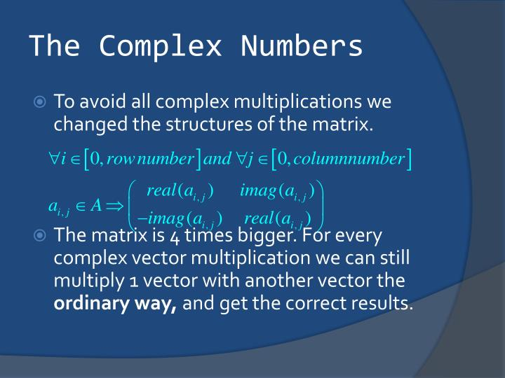 The Complex Numbers