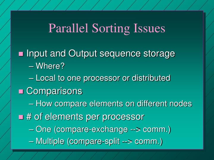 Parallel Sorting Issues