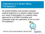 implications of a study s being va research1
