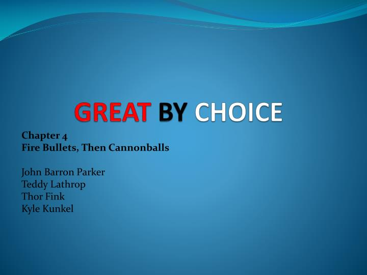 great by choice n.