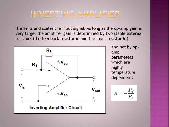 PPT - Inverting amplifier PowerPoint Presentation, free download -  ID:2733219SlideServe