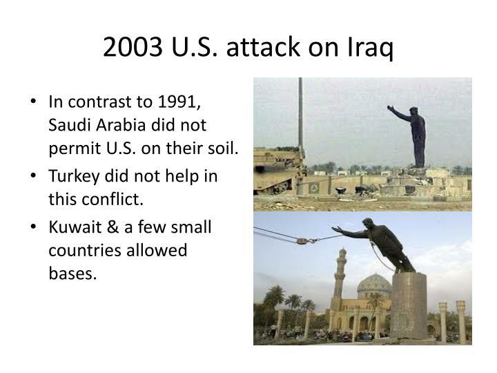 2003 U.S. attack on Iraq