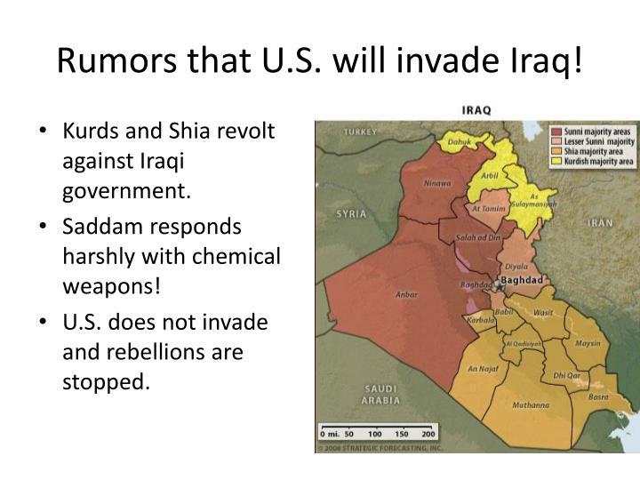 Rumors that U.S. will invade Iraq!