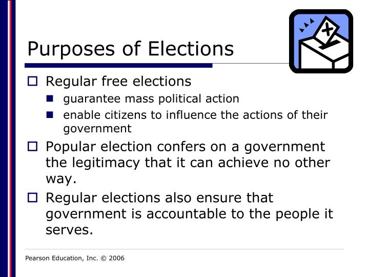purposes of elections n.