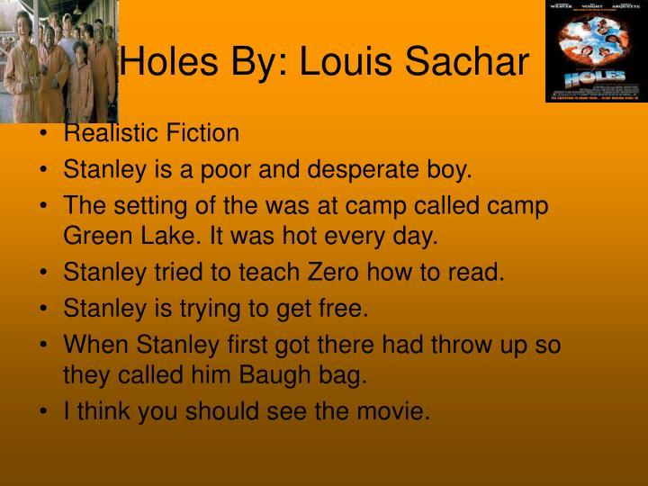 Ppt Holes By Louis Sachar Powerpoint Presentation Free Download Id 2733542