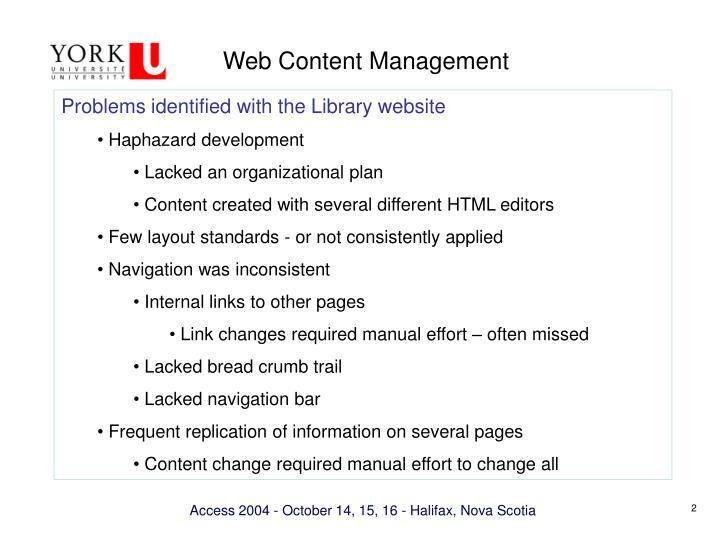 Web content management1