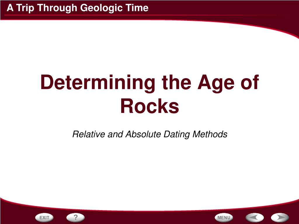 relative and absolute dating methods