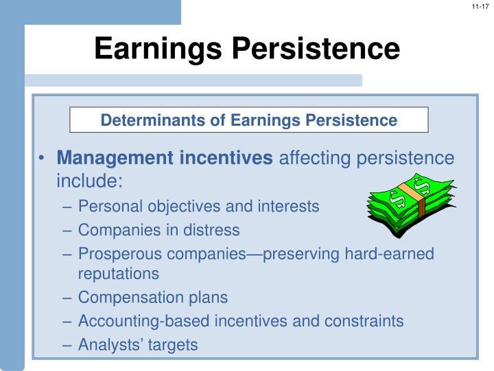 Earnings Persistence