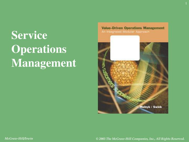 Service Operations
