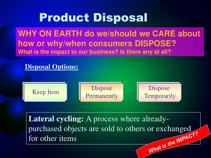Product Disposal