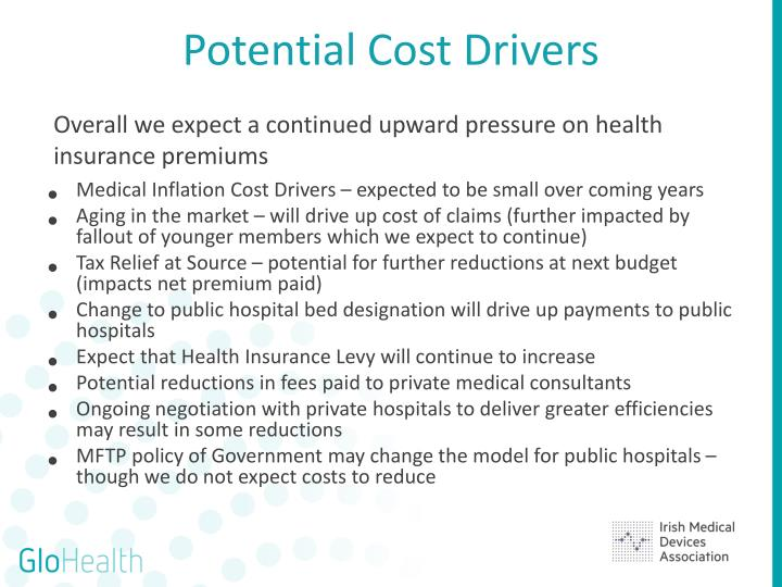 Potential Cost Drivers