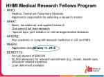 hhmi medical research fellows program