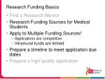 research funding basics