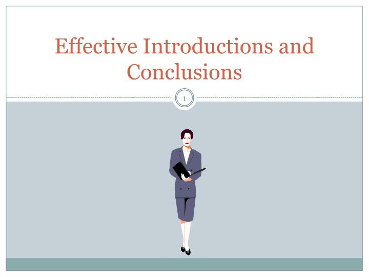 effective introductions and conclusions