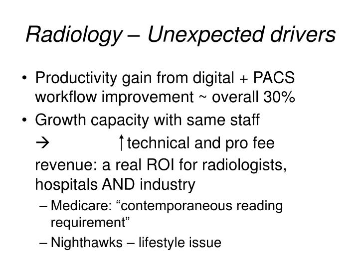 Radiology – Unexpected drivers