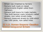 43 a d roman emperor claudius ceaser conquered britain