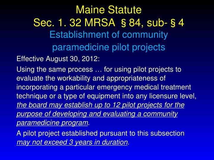 Maine Statute