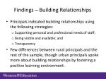 findings building relationships