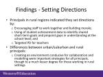 findings setting directions
