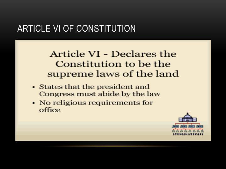 Article VI of Constitution