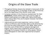 origins of the slave trade