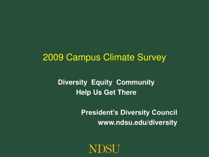 2009 campus climate survey