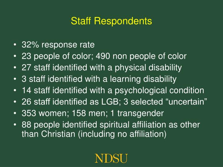 Staff Respondents